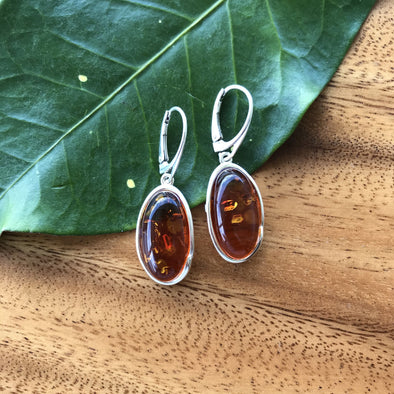 Honey Baltic Amber Earrings- Style 20
