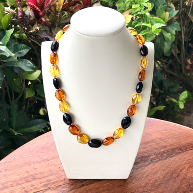 Faceted Baltic Amber Necklace- BANL04