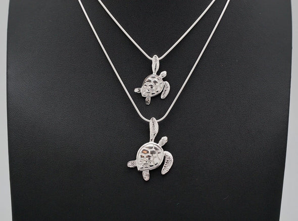 Sterling Silver Sea Turtle Fin Up