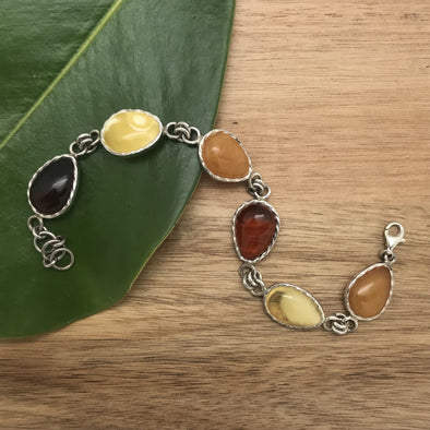 Bracelet, amber, silver, sterling silver, Baltic amber