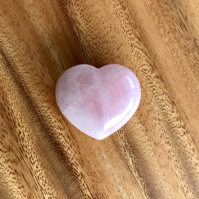 Polished Rose Quartz Heart