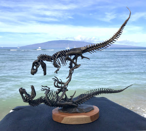 """Battle to the Death"" Bronze Tyrannosaurus Rex Sculpture"