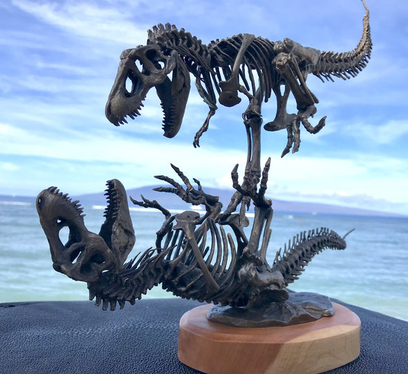 """Battle to the Death"" Bronze Tyrannosaurus Rex Sculpture by award-winning artist Nelson Maniscalco"