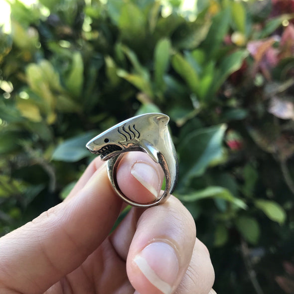 Great White Shark Wrap Around Ring