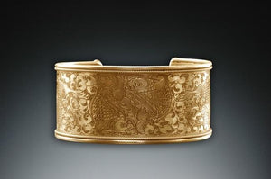 Twin Fish Cuff Bracelet 24k Gold Vermeil - Medium