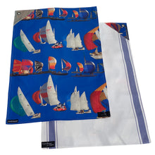 Load image into Gallery viewer, Racing Boat Tea Towel Set