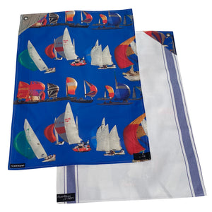 Racing Boat Tea Towel Set