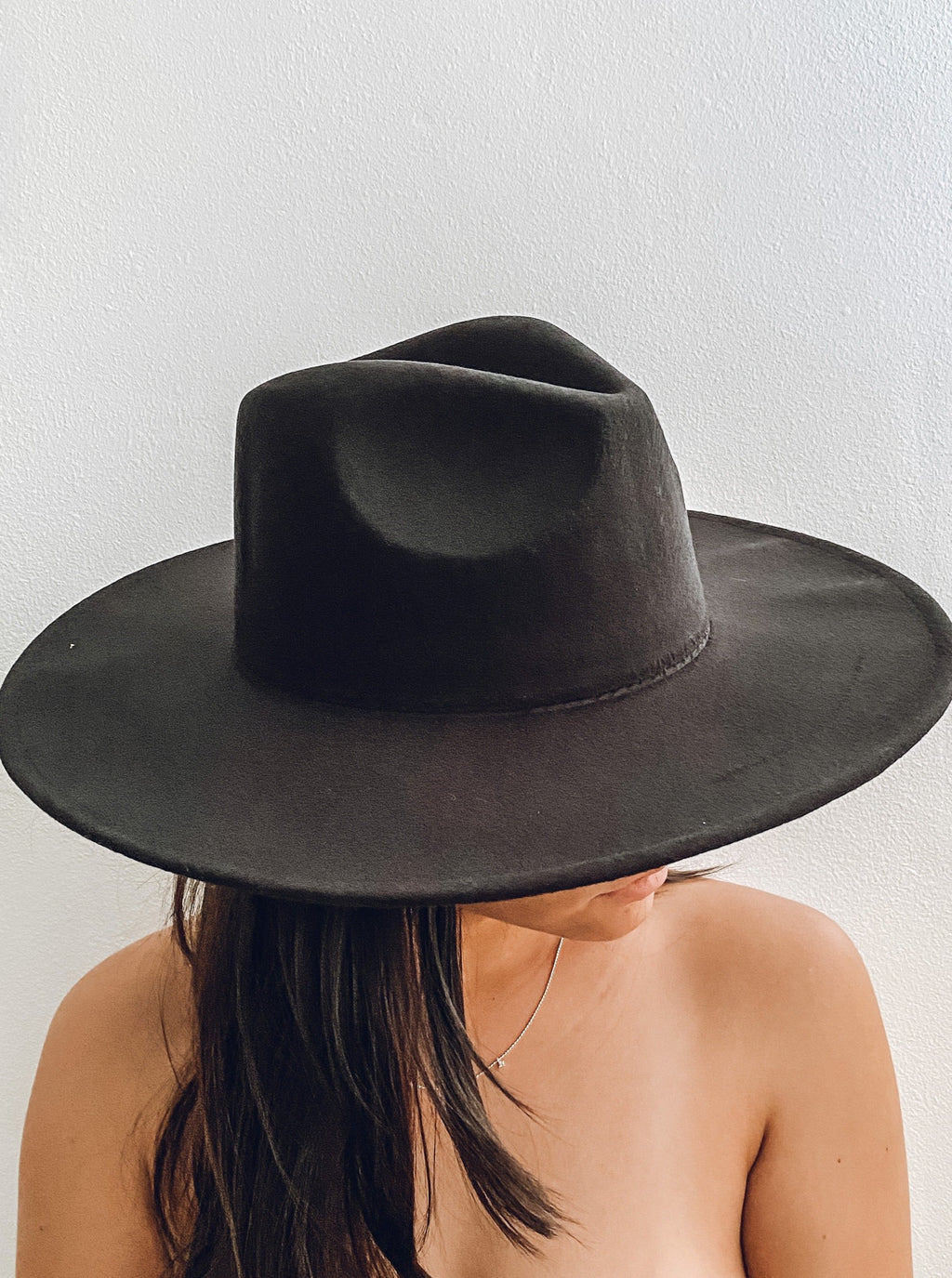 Black Stiff Brim Hat