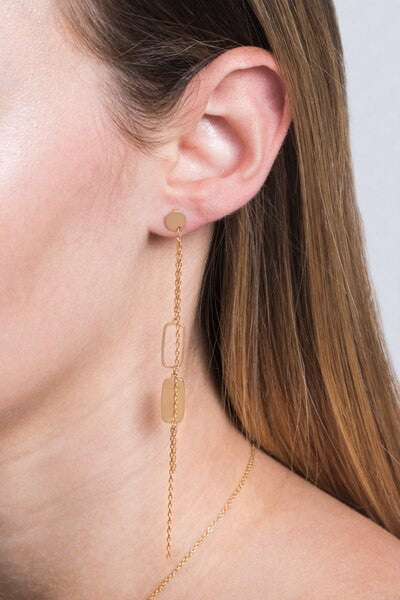 Enchanted Geometric Drop Earrings