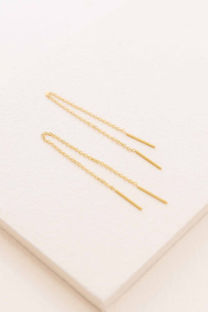 Mini Needle Chain Drop Earrings