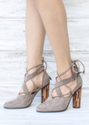 All Tauped Up Strappy Block Heel