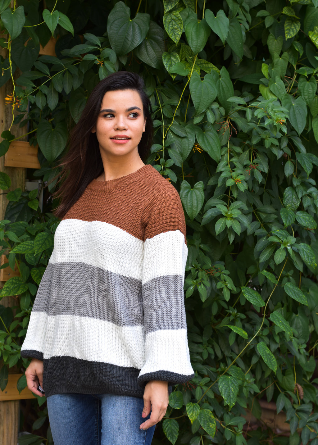 Faire Oversized Colorblock Sweater