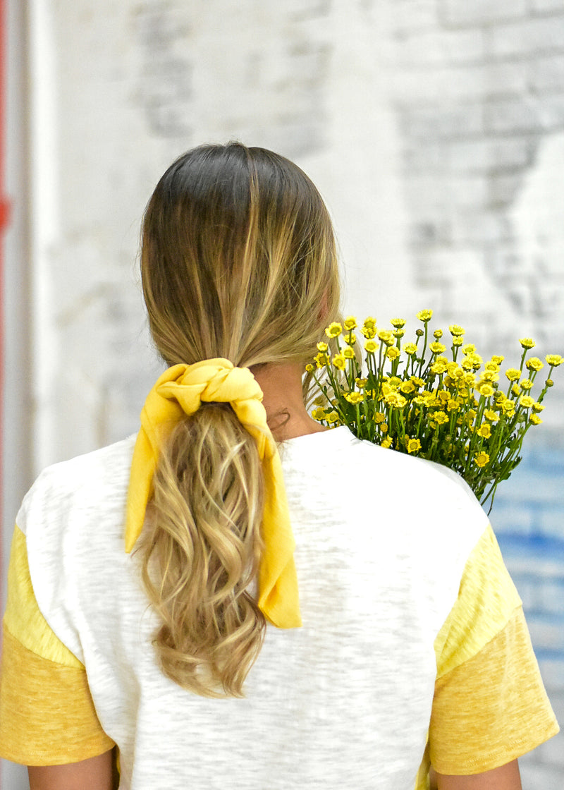 Yellow Ponytail Hair Scarf - The Capsule