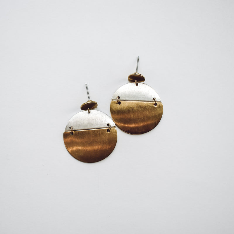 Alice Two Tone Earrings