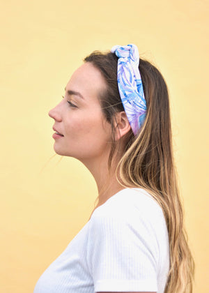 Pastel Tropical Print Hair Scarf