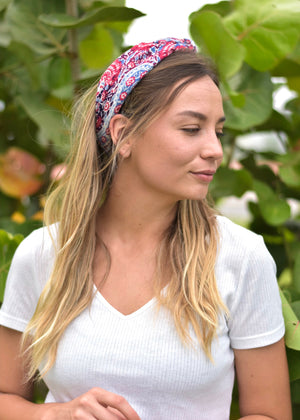 Freedom Print Hair Scarf