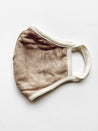 Tie Dye Reusable Ear Loop Three Layer Face Mask-Mocha