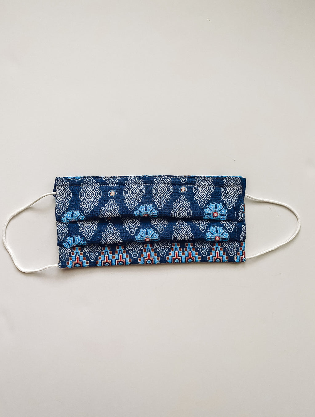 Blue Bohemian Reversible 4 Layer Reusable Face Mask