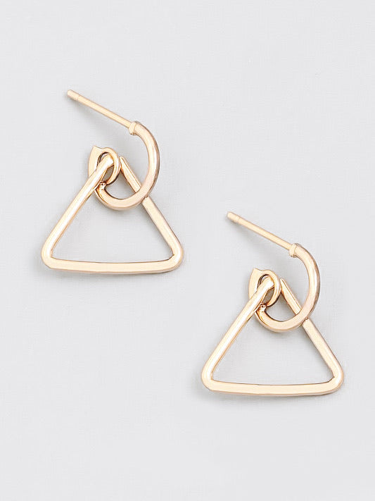 Tia Triangle Drop Earrings