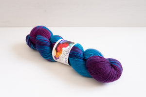needle food merino blend sock -  sugared violets