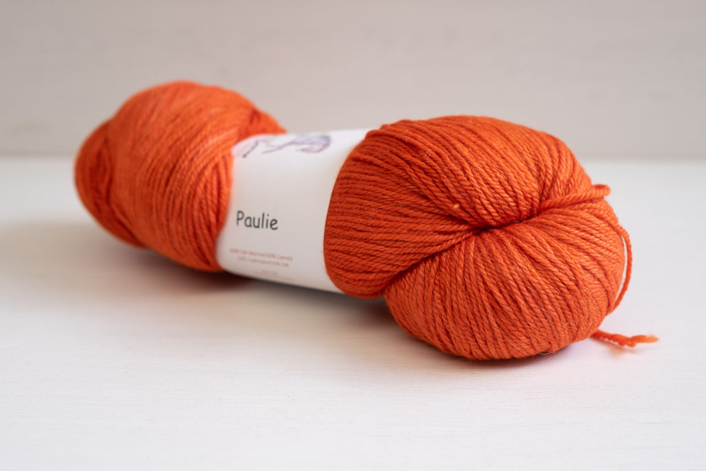 shalimar yarns paulie sock - orange is the new black