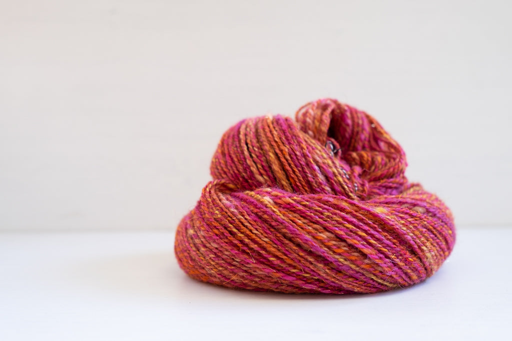 doubles worsted - zinnias