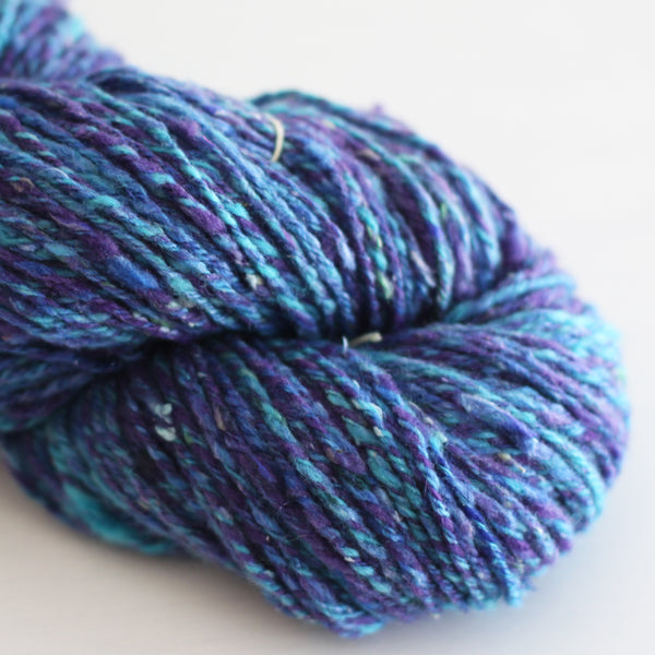 doubles aran - blues and purples