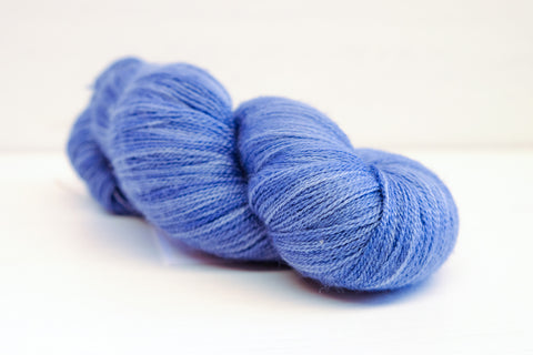 the knitting goddess lace - semi solid slate