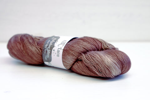 hedgehog fibres silk lace - mink