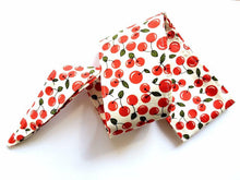 Pinup 50's Style White Cherry Head Wrap Scarf