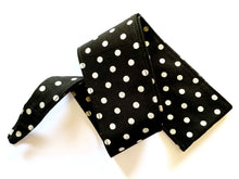 Pinup 50's Style Silver Glitter Polka Dot Head Wrap Scarf