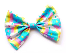 Large Rockabilly Rainbow Rain Cloud Pinup Hair Bow Clip