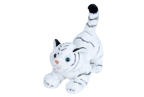 Wild Republic Playful White Tiger Stuffed Animal - 10