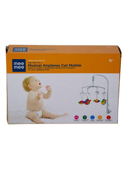 Meemee 3 in 1 Musical Airplanes Cot Mobile