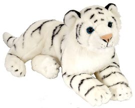 Wild Republic Laying White Cuddlekin Tiger 12""