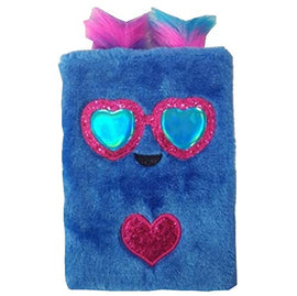 Mirada Blue Owl Plush Notebook
