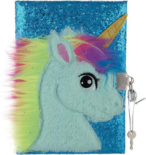 Mirada Unicorn with Horn Glitter Notebook