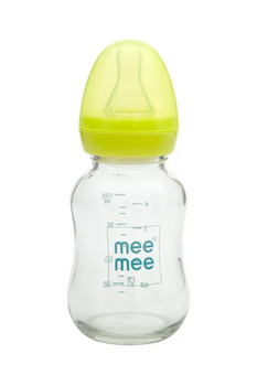 Premium Glass Feeding Bottle Green 125ML