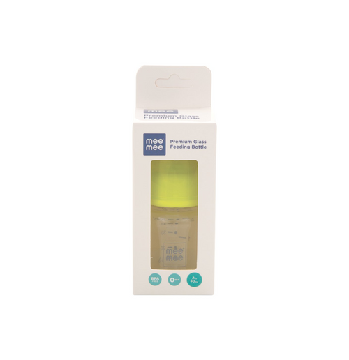 Premium Glass Feeding Bottle 50ML (Color May Vary)