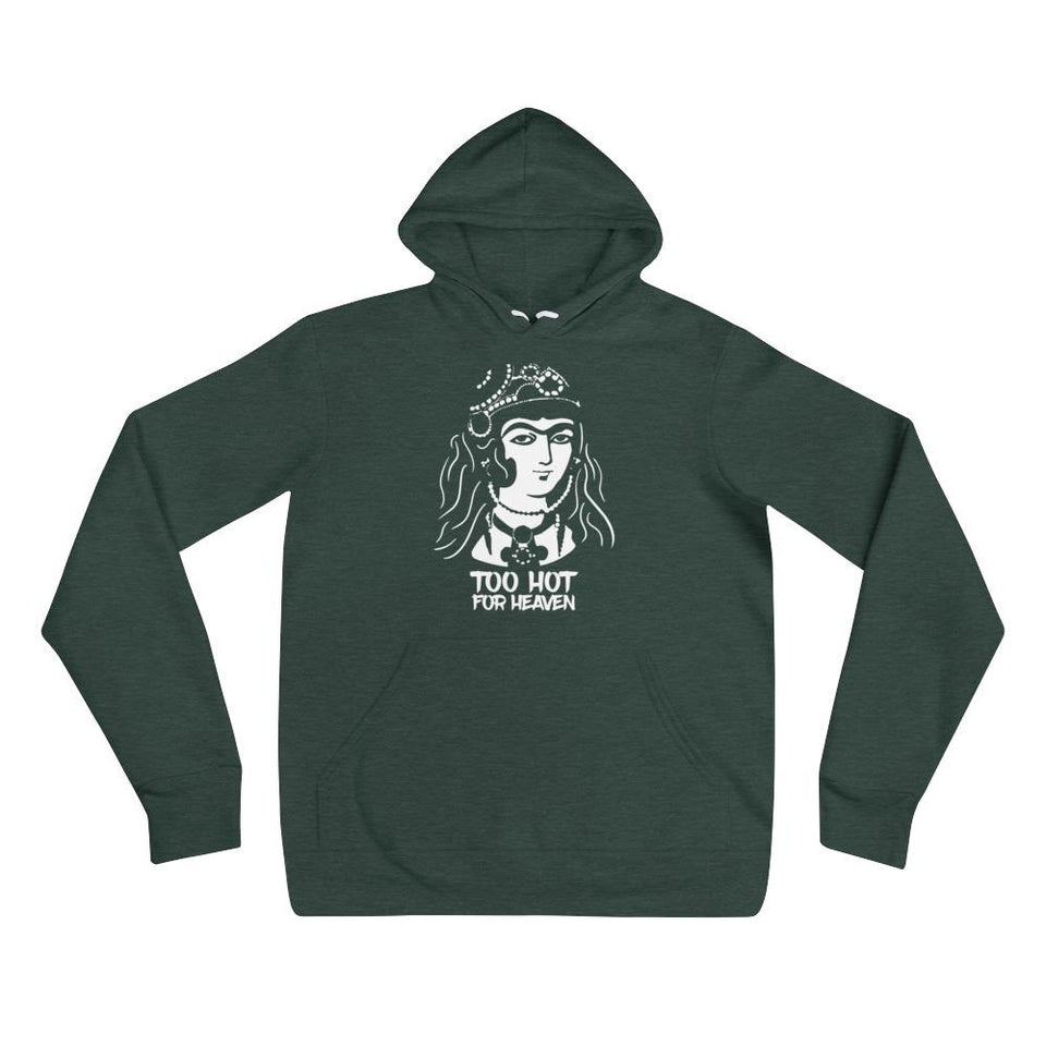 Too Hot For Heaven - Heather Forest / S - Hoodie Geev Thegeev.com