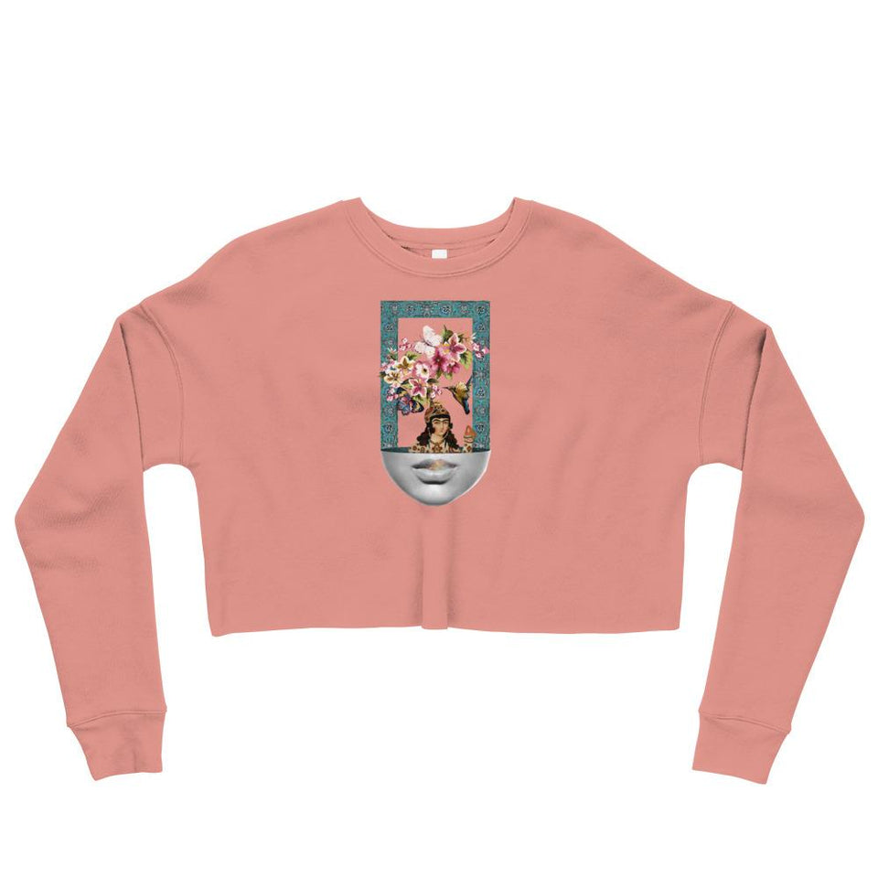Colorful Frame Crop Sweatshirt - Mauve / S - Crop Sweatshirt Geev Thegeev.com