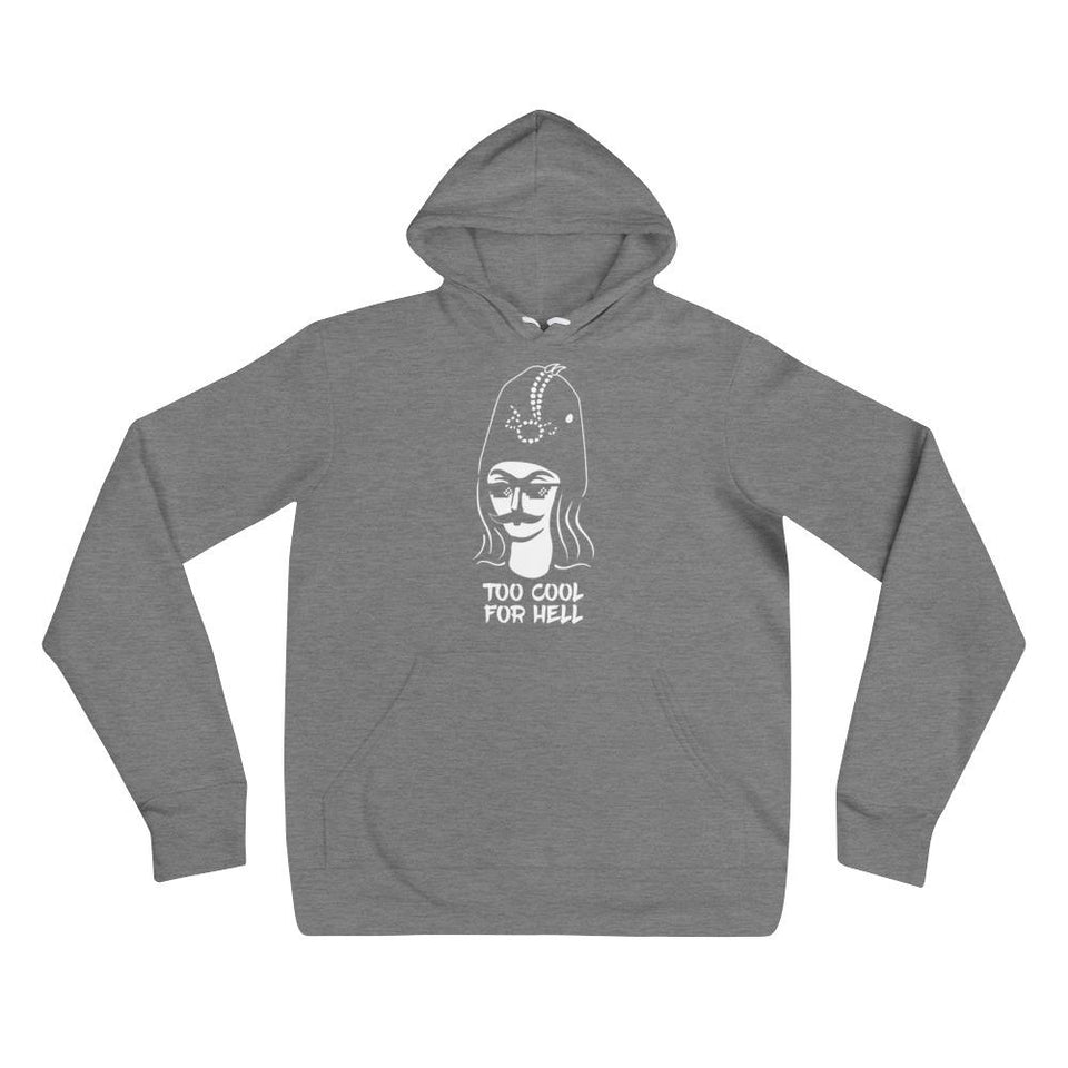 Too Cool For Hell Hoodie - Deep Heather / S / Basic - Hoodie Geev Thegeev.com