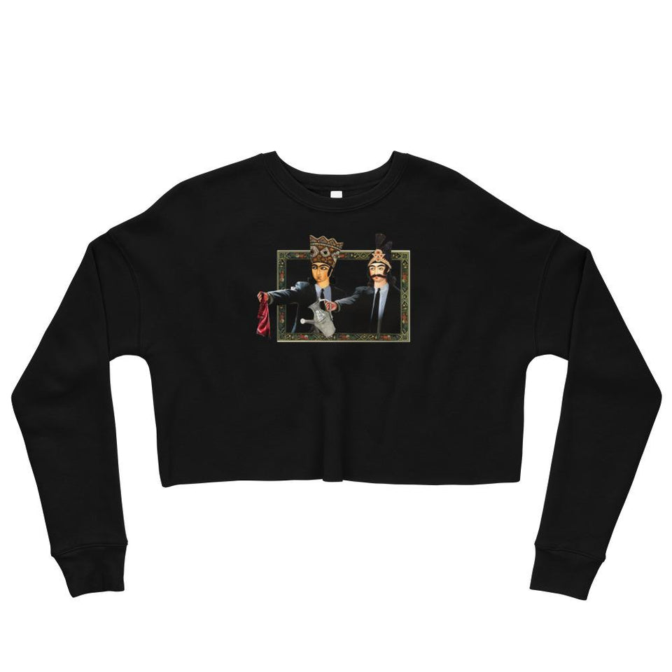 Loong Fiction Crop Sweatshirt - Black / S - Crop Sweatshirt Geev Thegeev.com