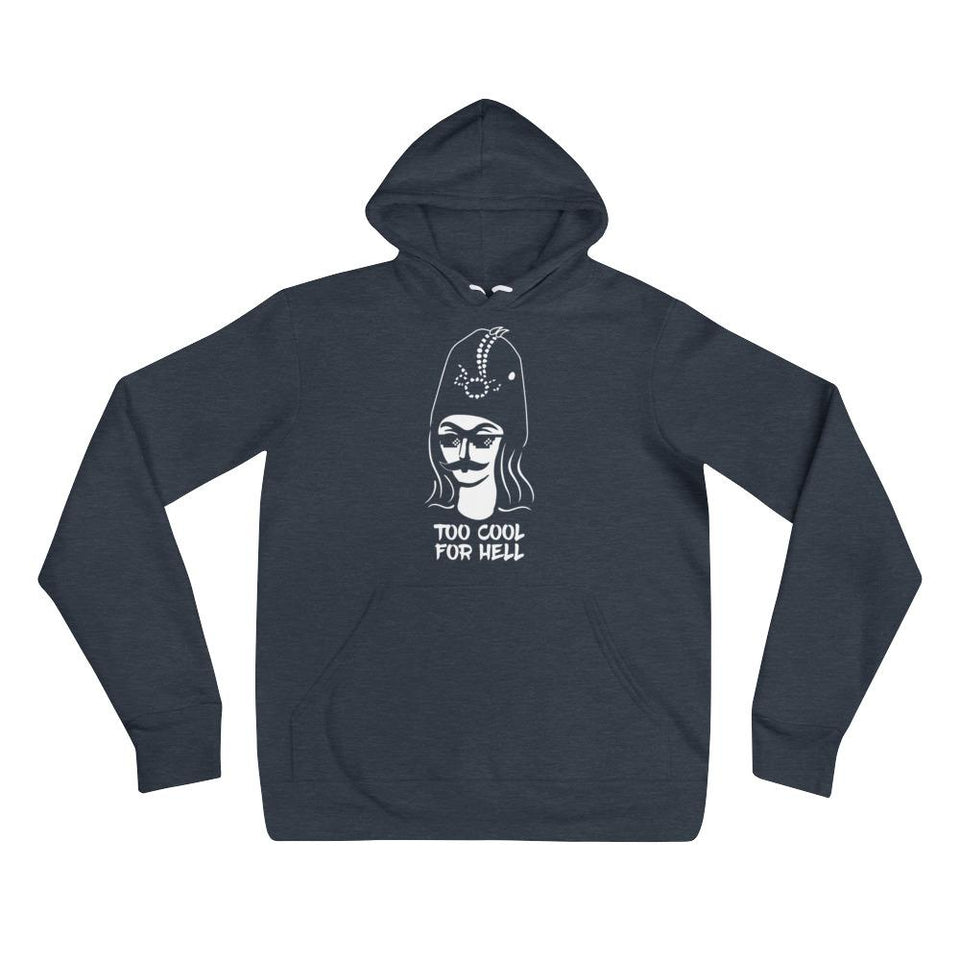 Too Cool For Hell Hoodie - Heather Navy / S / Basic - Hoodie Geev Thegeev.com