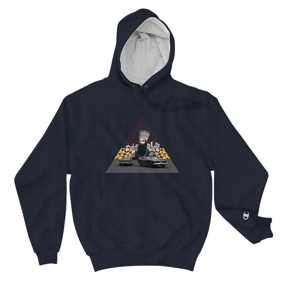 Im The King! (Champion Edition) - Navy / S - Hoodie Geev Thegeev.com