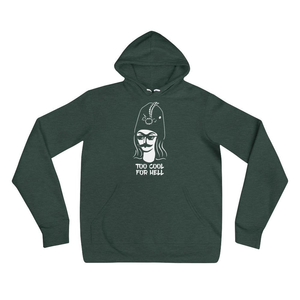 Too Cool For Hell Hoodie - Heather Forest / S / Basic - Hoodie Geev Thegeev.com