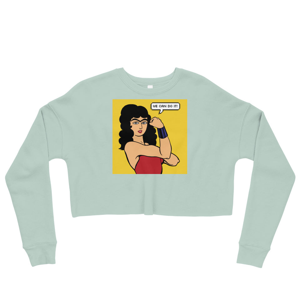 We Can Do it! (Farinaz) Crop Sweatshirt
