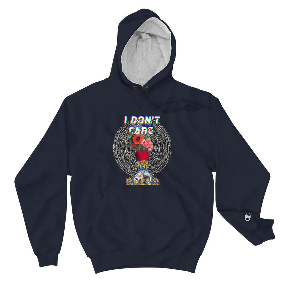 I Dont Care (Champion Edition) - Navy / S - Hoodie Geev Thegeev.com