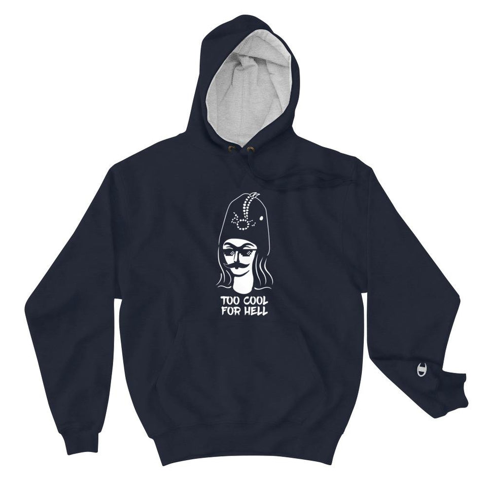 Too Cool For Hell (Champion Edition) - Navy / S - Hoodie Geev Thegeev.com