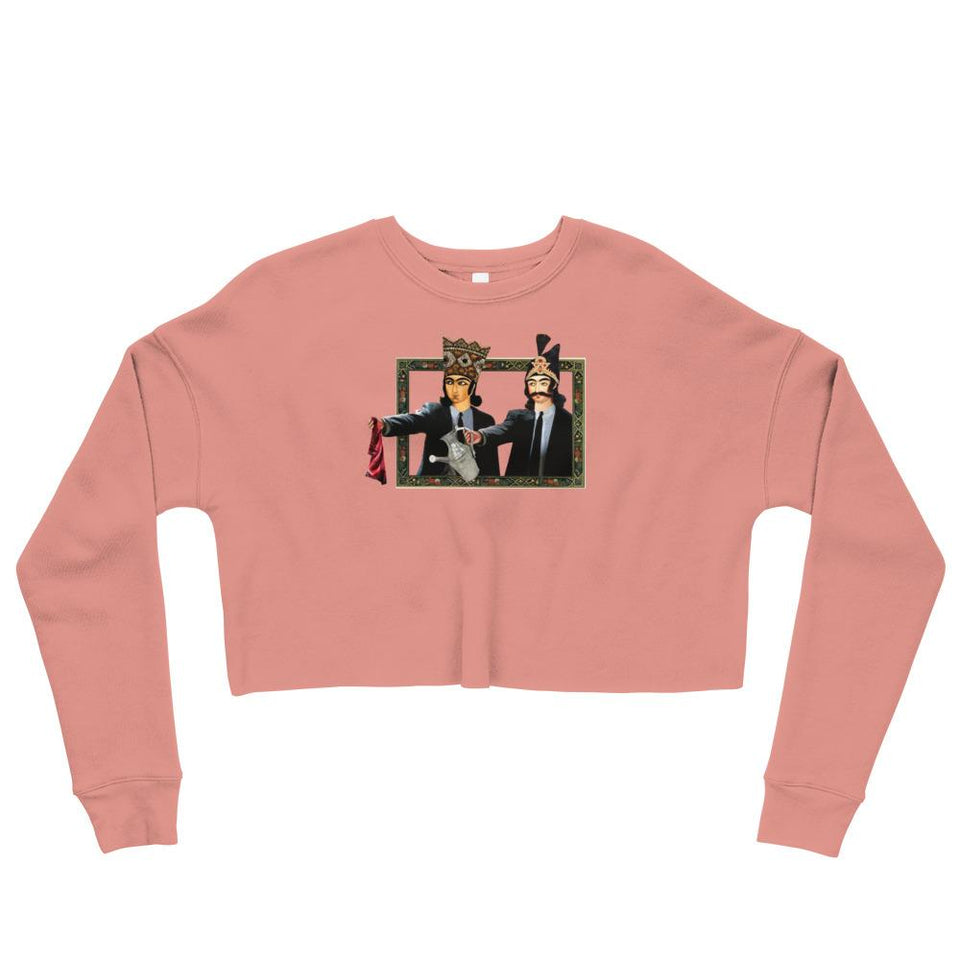 Loong Fiction Crop Sweatshirt - Mauve / S - Crop Sweatshirt Geev Thegeev.com